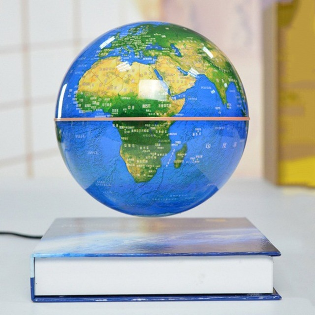 6 inch magnetic rotating globe anti gravity floating levitating 6 inch magnetic rotating globe anti gravity floating levitating earth globe world map for desktop gumiabroncs Choice Image
