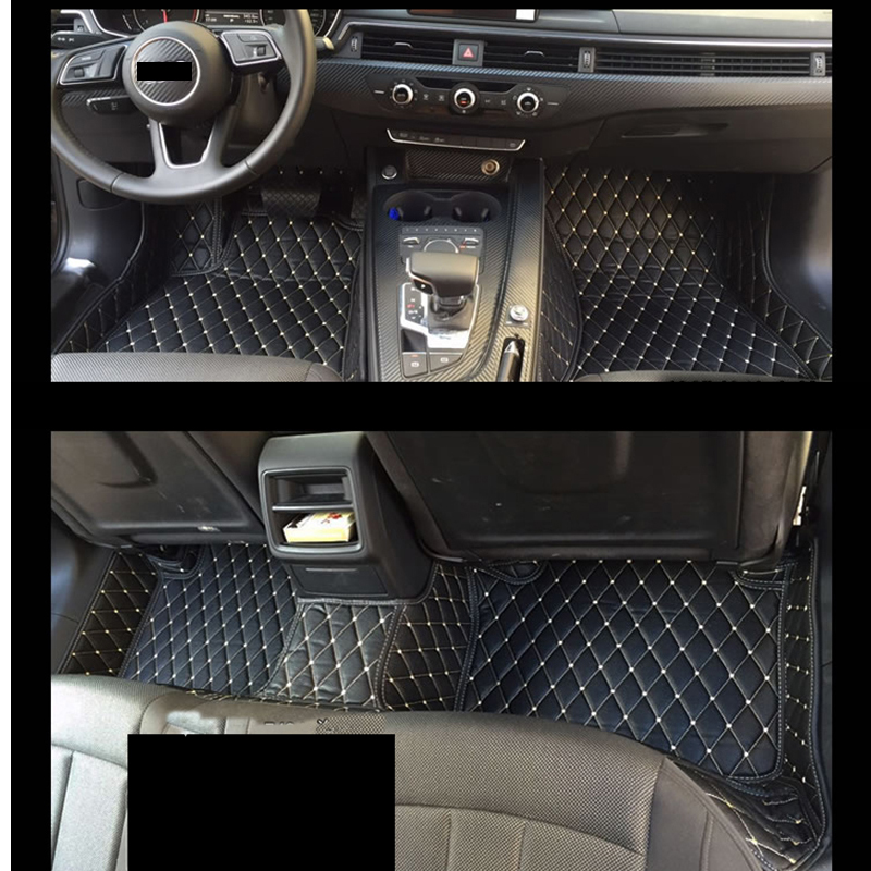 Lsrtw2017 Fiber Leather Car Interior Floor Mat For Audi A4 2001 2019 2018 2017 2016 2015 2014