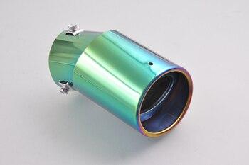 Voor Universele Verstelbare Kleurrijke Uitlaatdemper Tail Tip Pipe 58-70mm Innerlijke Dia [QPA134]