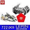 LEPIN 05030 722Pcs Stars Wars Vader S TIE Advanced VS A Wing Starfighter Model Building Blocks