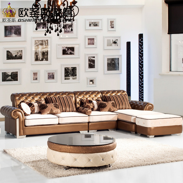 l shaped post modern italy genuine real leather sectional latest corner furniture living room sofa set : real leather sectional - Sectionals, Sofas & Couches