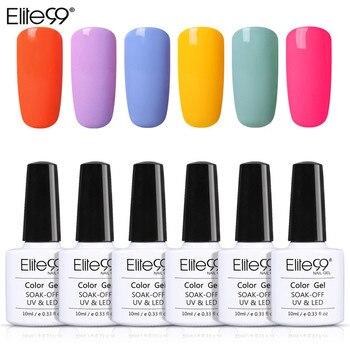 Elite99 Gel Polish 10ml Fluorescent Macaron Gel 6 teile/satz Nail art Vernis UV Gel Lack Tränken Weg Nägel Gel polnischen Lack