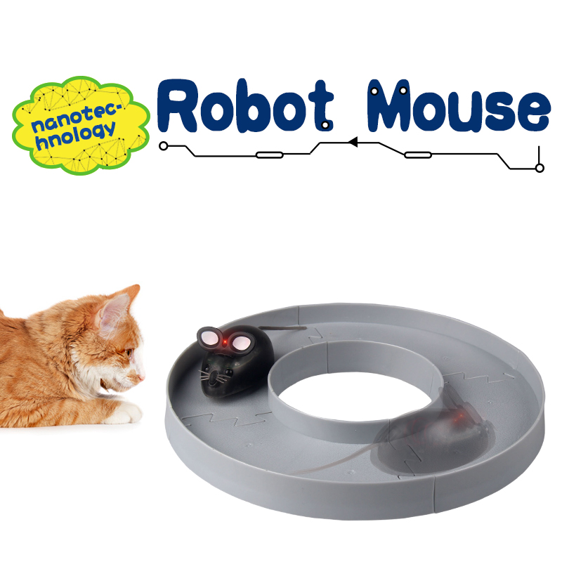Nanotec-hnology robot mouse Circular orbit Match track racing electronic shock crawling toy tricky Party Gift Unisex