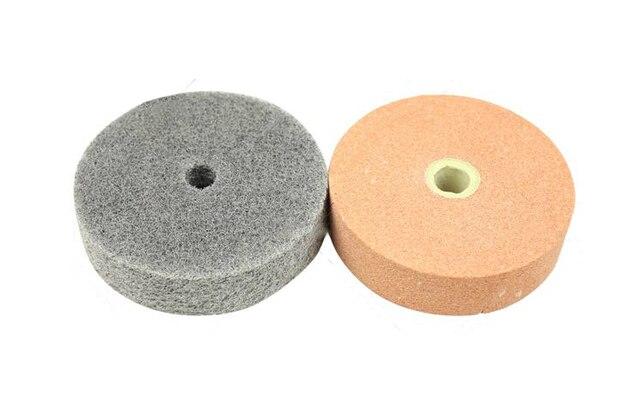2 stks set buiten diameter 70mm zand wiel & fiber wiel. 70mm polijst