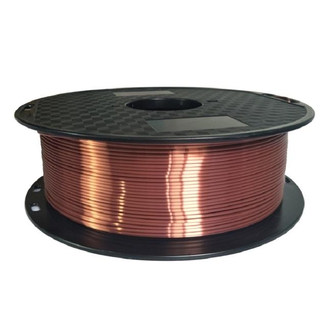 Silk pla Black 1.75mm 1kg PLA silky Rich Luster 3d Printer filament shiny purple red copper silk feeling like printing materials