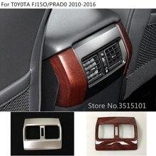 Car garnish cover frame trim back rear Air condition Outlet Vent For Toyota FJ150 / Prado 2010 2011 2012 2013 2014 2015 2016