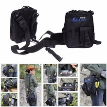 Fishing Leg Bag Waist Haversack for Holding Fishing Lure Pliers Fishing Tackle Box Multi-Usage Fishing Bag with Side Water Bag