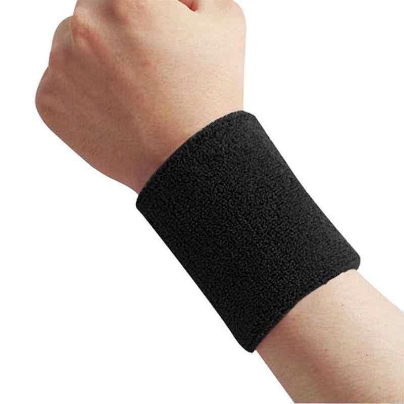 Горная цепь Хлопок Sweatband влагоотводящий спортивный махровый текстильный браслет для тенниса, баскетбола, бега, спортзала, работы