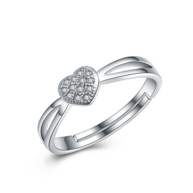 Wholesale 925 sterling silver engagement ring designs for girl heart
