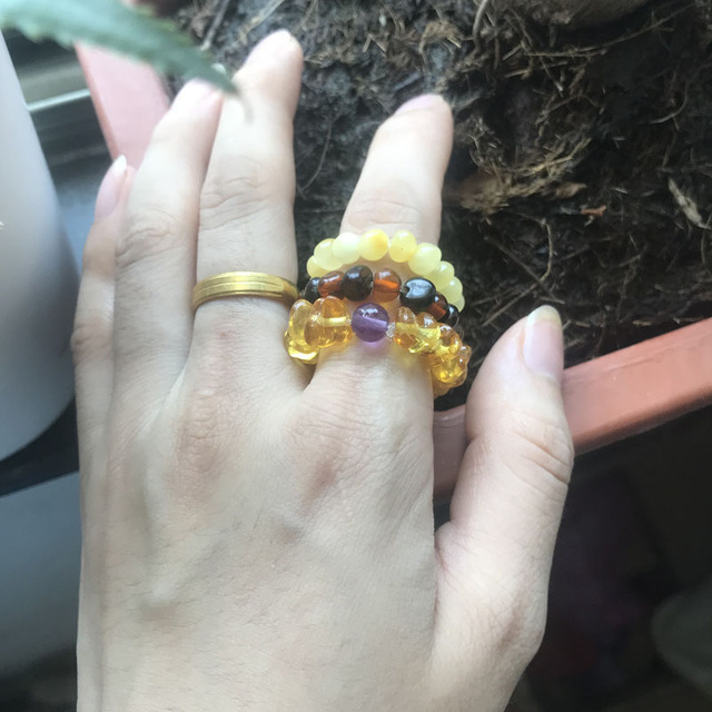 Fine Jewelry Baltic Amber Adjustable Stretched Rings9