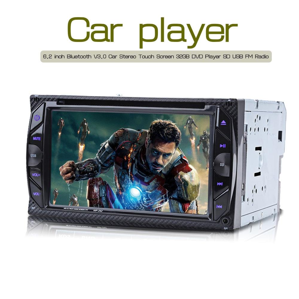 imágenes para Nueva 6.2 pulgadas de Coches Reproductor de DVD 2 Din Radio de Coche Bluetooth V3.0 32 GB En el tablero Estéreo Autoradio Centro Multimedia de Vídeo FM MP4 MP5