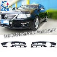 2 Stks/set auto styling relais LED Auto DRL Dagrijverlichting voor VW Passat B6 2007 2008 2009 2010 2011