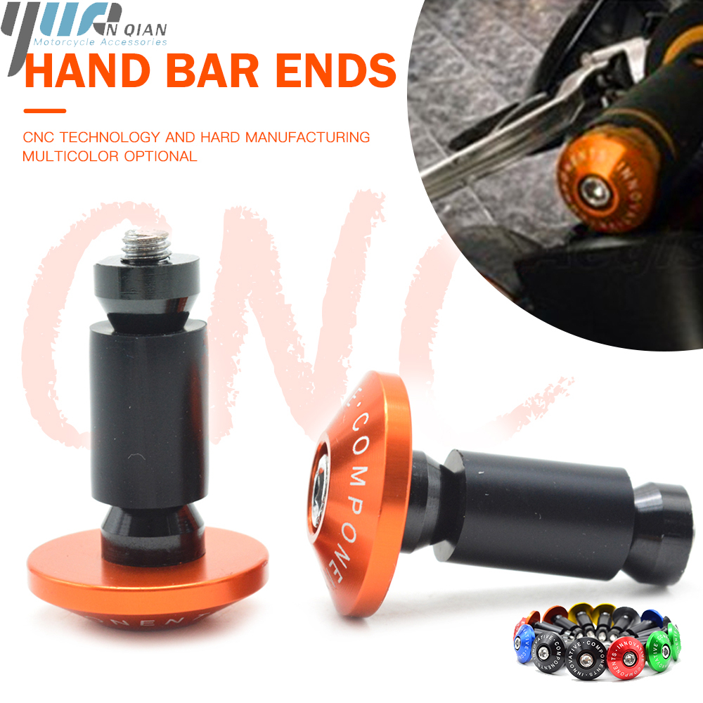 orange 22mm 7 8 quot quot Handbar CNC Aluminum Motorcycle Hand Grips Handlebar handle bar Grips Bar Ends Plug Slider for ktm 690 640 lc4 in Grips from Automobiles amp Motorcycles