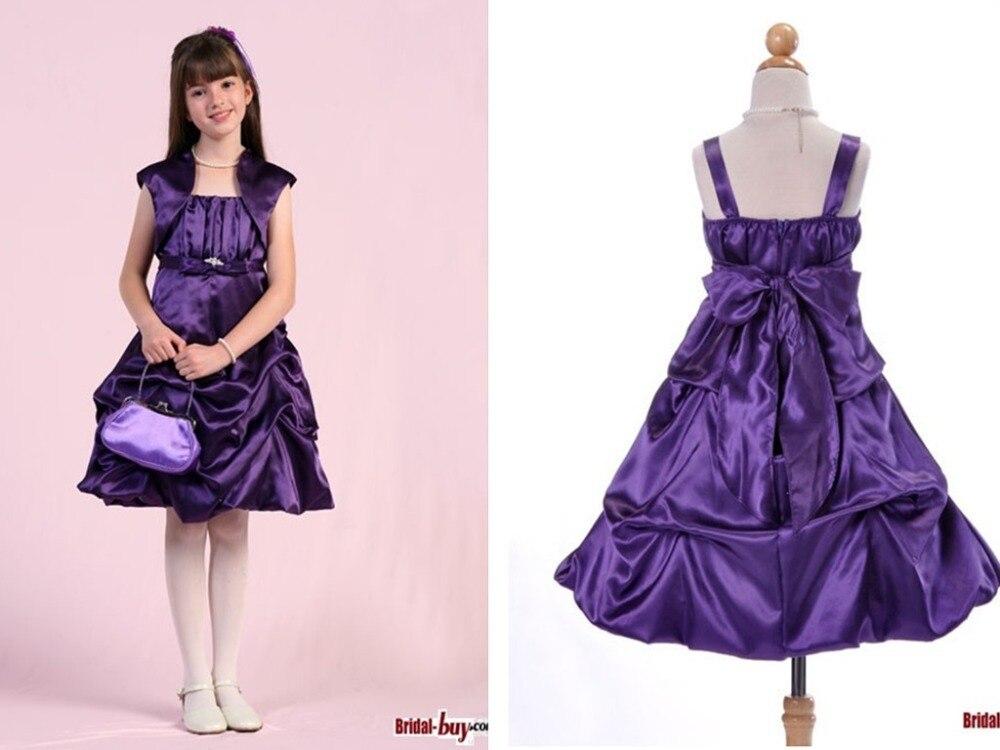 free shipping first communion   dresses   for   girls   2016 knee-length   Flower     Girl     Dresses   with jacket vestido de festa de casamento