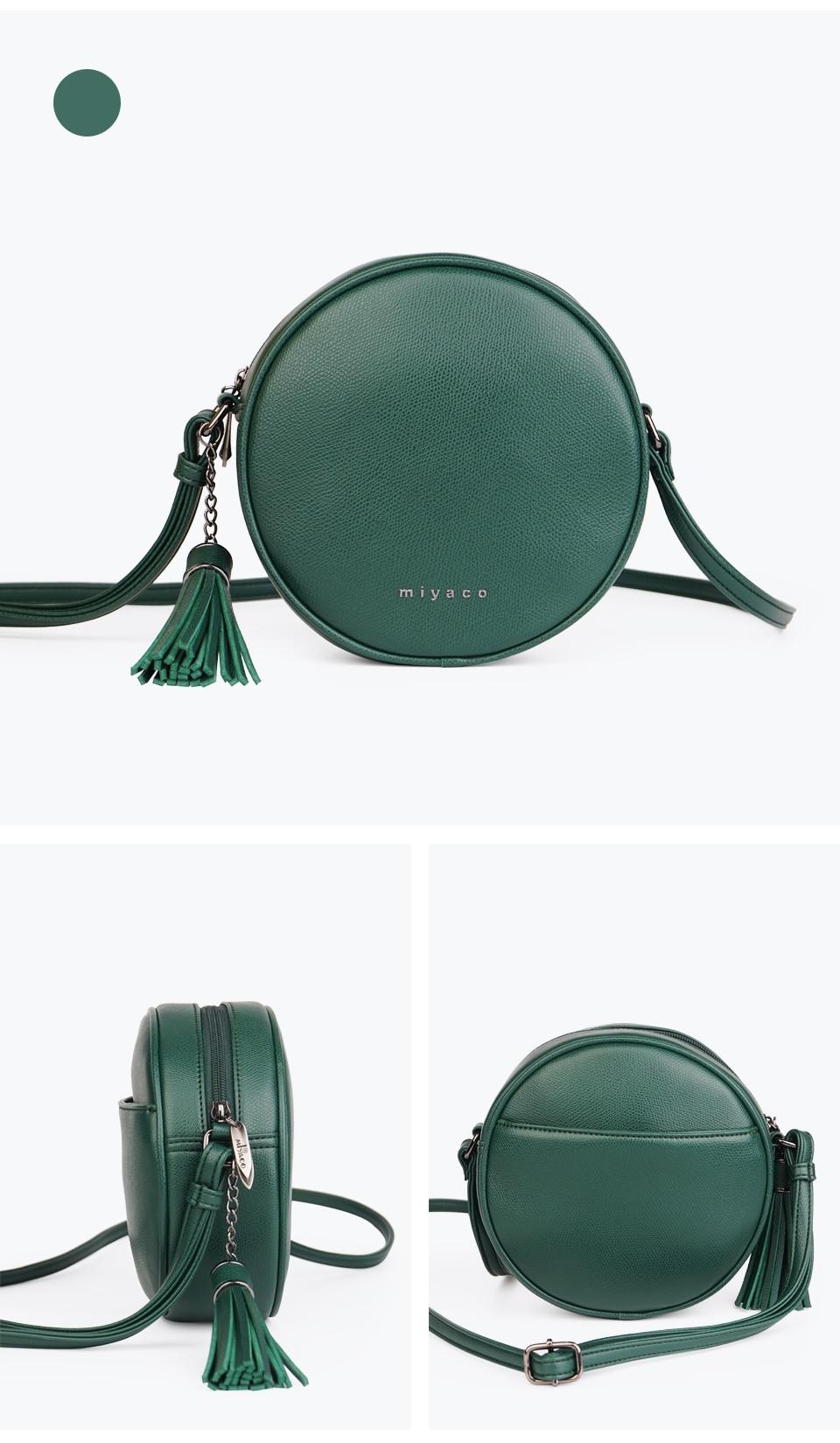 Sac À Bandoulière Rond Fashion Vert