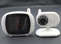 3.5 Cal 2.4 Ghz Bezprzewodowy Dwukierunkowy Interkom Kamery Temperatury Wyświetlacz Czasu i Muzyka Bezprzewodowy IR Night Vision Baby Monitor