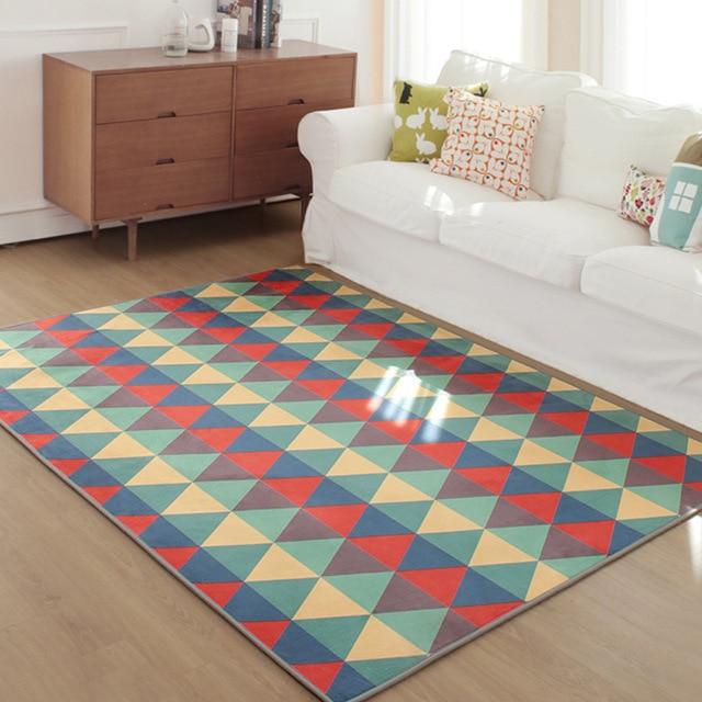 gomtrique bohme style doux tapis tapis chambre non glissement tapis de sol pour le salon - Tapis De Chambre