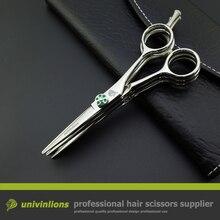 """Univinlions 5.5 """"multi klinge schere friseur barber multi cut schere 3 schichten chunking scher japanischen haar schneiden scheren"""