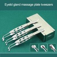 Beauty Health Cosmetic Makeup Tools/Accessories Eyelid gland massage plate tweezers Eyebrow Tweezer