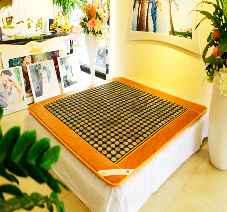 Good! natural jade tourmaline mattress heat physical therapy mat body health care mattress AC220V size 1.0X1.9M,Free shipping good quality natural jade mat tourmaline heat chair cushion far infrared heat pad health care mat ac220v 45 45cm free shipping