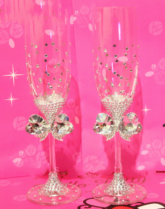 Wedding Gift Crystal Glasses : ... Glasses Handmade Senior Champagne Cup Wine Glass Wedding Gift Crystal