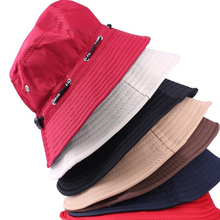 New Fashion White Black Casual Men Women Panama Summer Sun Hat Boonie Hunting Fishing Outdoor Cap Unisex Beach Hats Free Size(China)