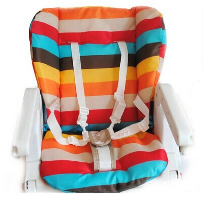 NEW 1pcs car seat cover, soft Cotton pads,Baby carriages /Dining Chair Universal pad / rainbow color bar pad