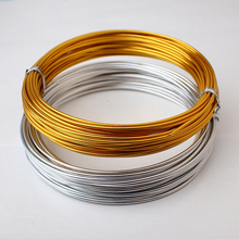 1.5mm thick anodized aluminum wire 10m 11yard 33ft gold silver wrapping wire for jewelry making supplies craft Bonsai