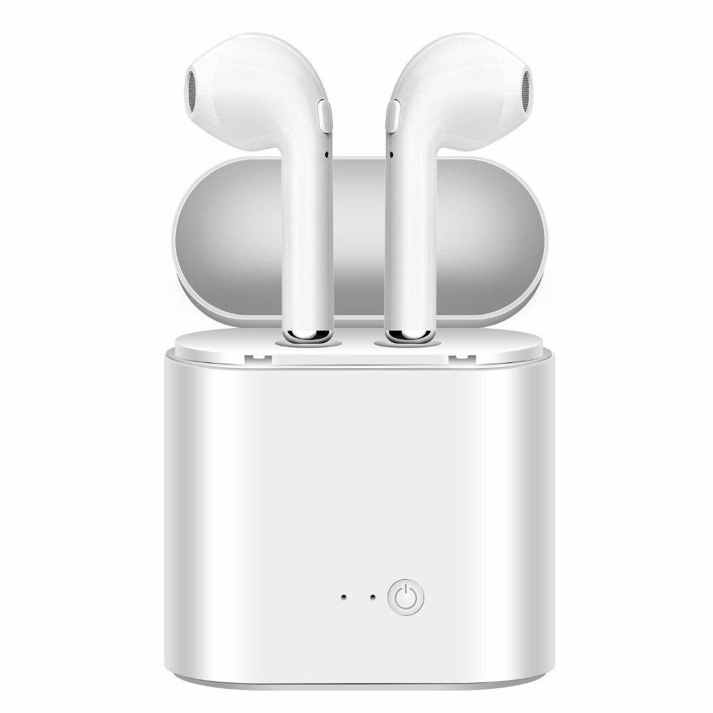 Auricolari Bluetooth Auricolari Senza Fili Auricolare TWS Doppia Twins Cuffia Stereo di Musica Per iPhone 6 Samsung Android Xiaomi Huawei