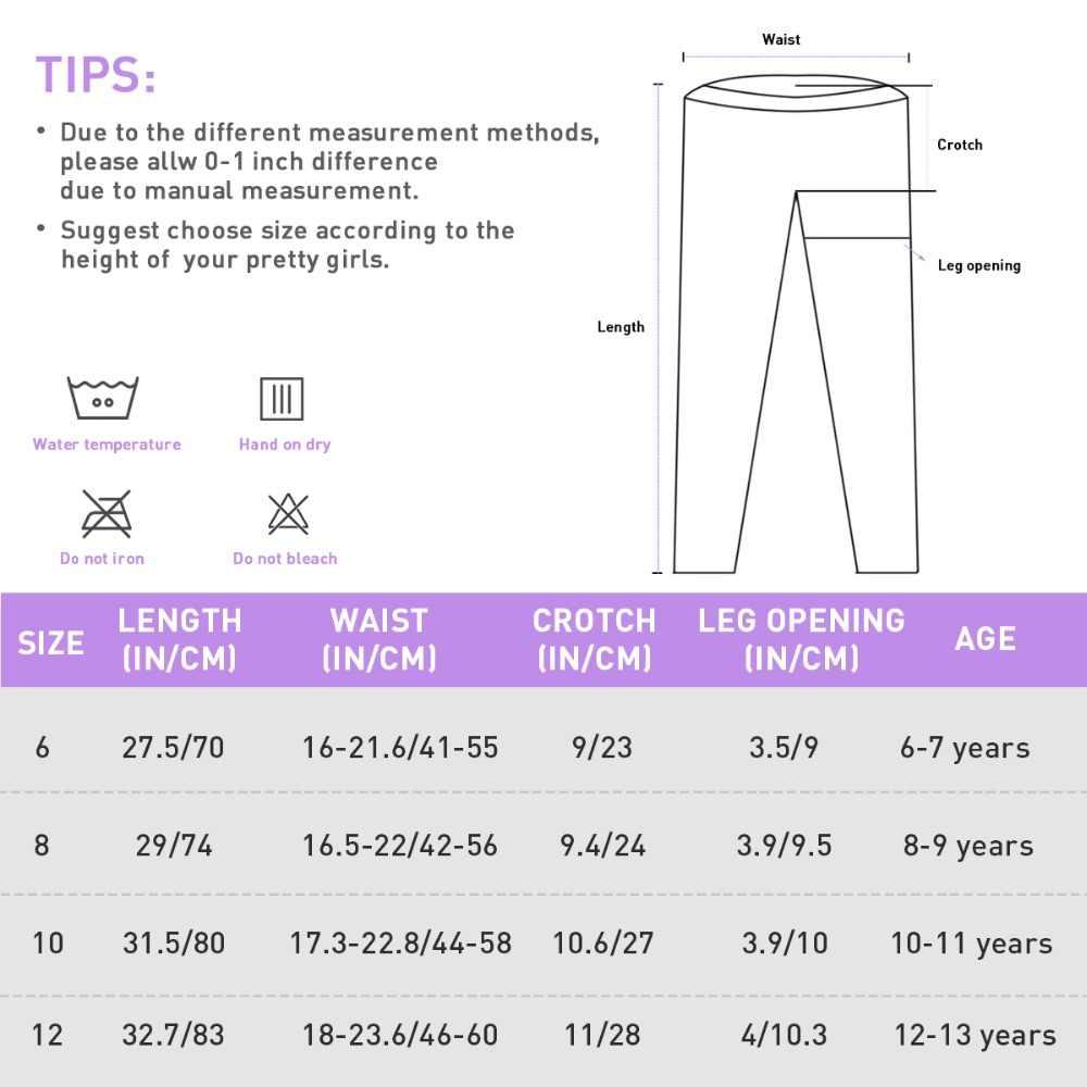 Радуга Единорог с эластичной резинкой на талии, штаны-карандаш брюки для девочек для занятий йогой; детские брюки; леггинсы для Одежда для маленьких девочек