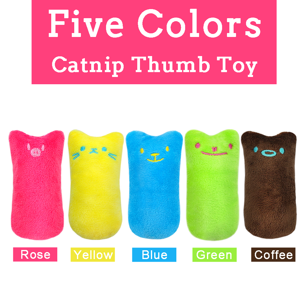 Funny Interactive Plush Cat Toy Pet Kitten Chewing Toy Teeth Grinding Catnip Toys Claws Thumb Bite