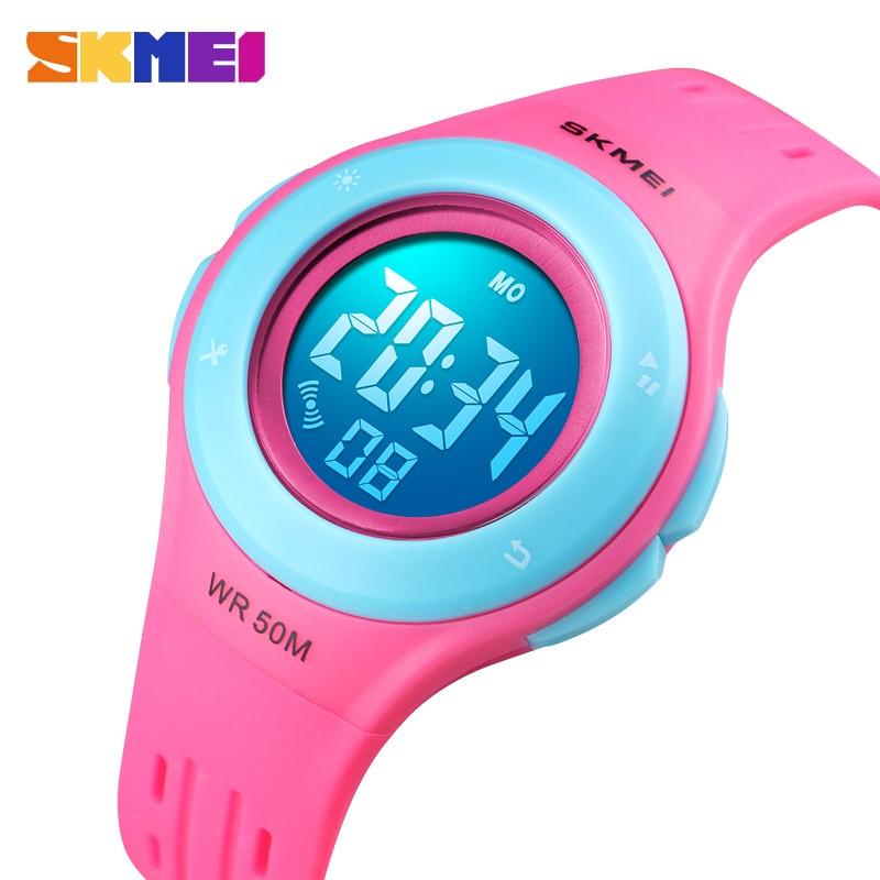 SKMEI Children Watch Alarm-Date Gift Digital Girls Plastic Kids Boys Select LED Sport