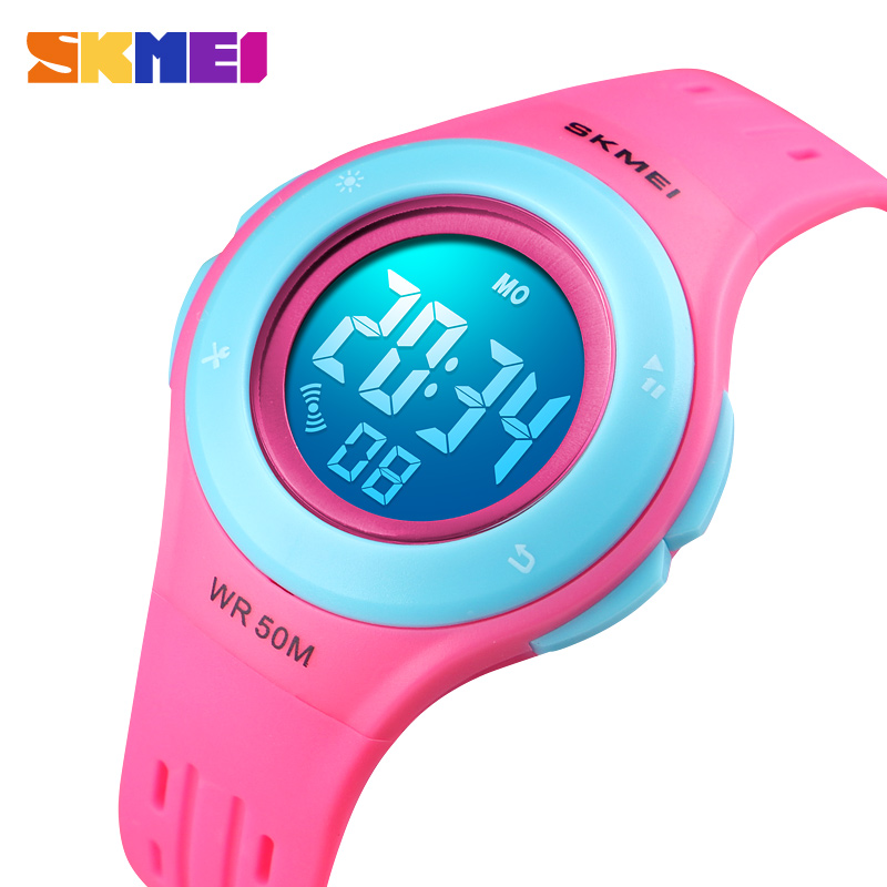 Obliging Children Watch Boys Girls Led Digital Sports Watches Plastic Kids Alarm Date Casual Watch Select Gift For Kid Skmei 2018 Back To Search Resultswatches