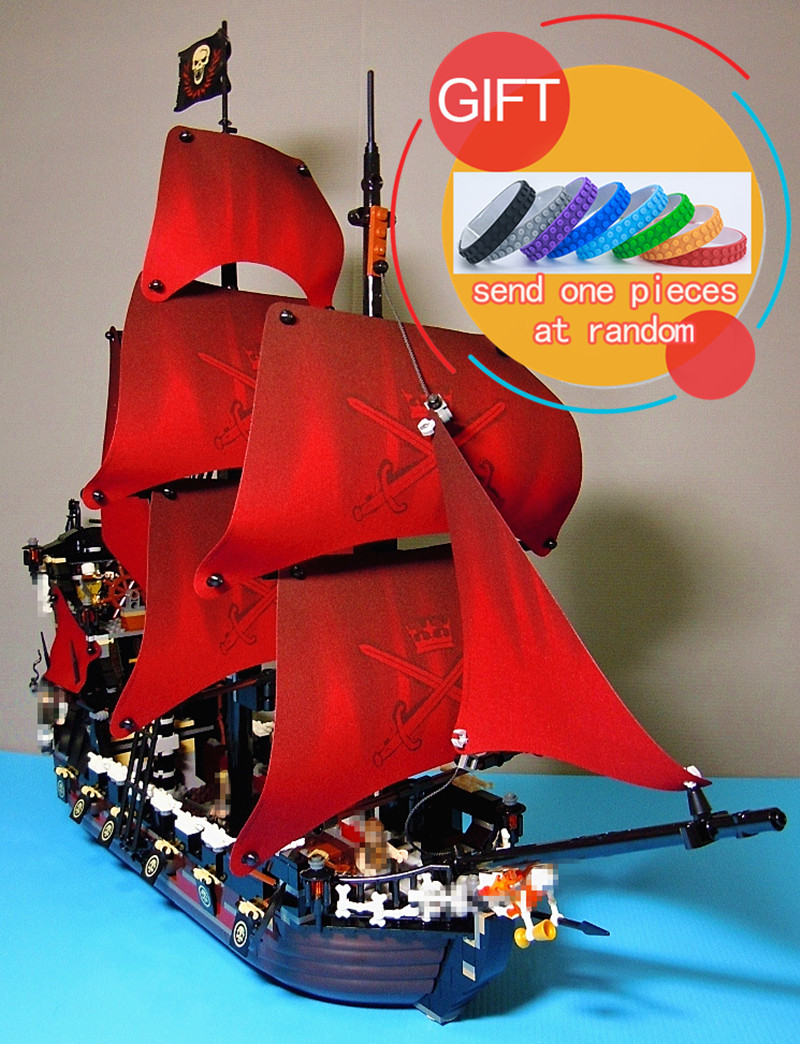 16009 1151pcs Queen Anne's revenge Pirates of the Caribbean Set Compatible with 4195 Building Blocks Toys lepin blocks ship model 1151pcs pirates of the caribbean queen anne s revenge building bricks kits toys christmas gifts 16009