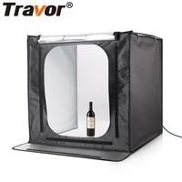 Travor 60*60 Portable Folding Studio Diffuse Soft Box LED Light With Yellow Black White Photography Background Photo Studio Box