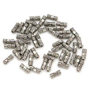 50 шт., цилиндрические бусины для рукоделия