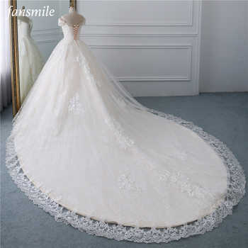 Fansmile Luxury Lace Beading Long Train Ball Gown Wedding Dress 2019 Vestidos de Novia Princess Wedding Bride Dress FSM-531T - DISCOUNT ITEM  30% OFF All Category