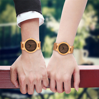 Simple Wood Watches Men Handmade Quartz Wrist Watch Trendy Couple Watches Valentine Present reloj Genuine Leather Band YISUYA