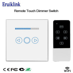 Smart Home EU Dimmer Switch 220V,Touch Panel Wireless Remote Wall Light Dimmer Switch Wifi Control Via Broadlink Rm Pro/Geeklink