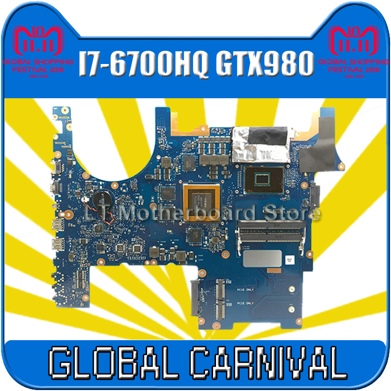 with I7-6700 GTX980 4GB N16E-GX-A1 G752VY laptop Motherboard for asus ROG G752 G752V G752VY G752VT G752VL Mianboard motherboard 100% new n16e gs kcd a1 n16e gs kcd a1 bga chipset