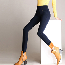 2019 Autumn Winter Women Pants Plus Velvet Thick Warm Leggings Elastic