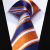 "TZS06N8 Laranja Listrado Azul 3.4 ""Homens Gravata de Seda Gravata Lenço Abotoaduras Set Festa de Casamento Clássico Quadrado Bolso Gravata"