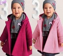 Baby Girl Toddler Coats girls' Overcoat Wool Blend Coat Snowsuit Jacket Kids' Hoodies Christmas Hooded Loose Outerwear Clothes