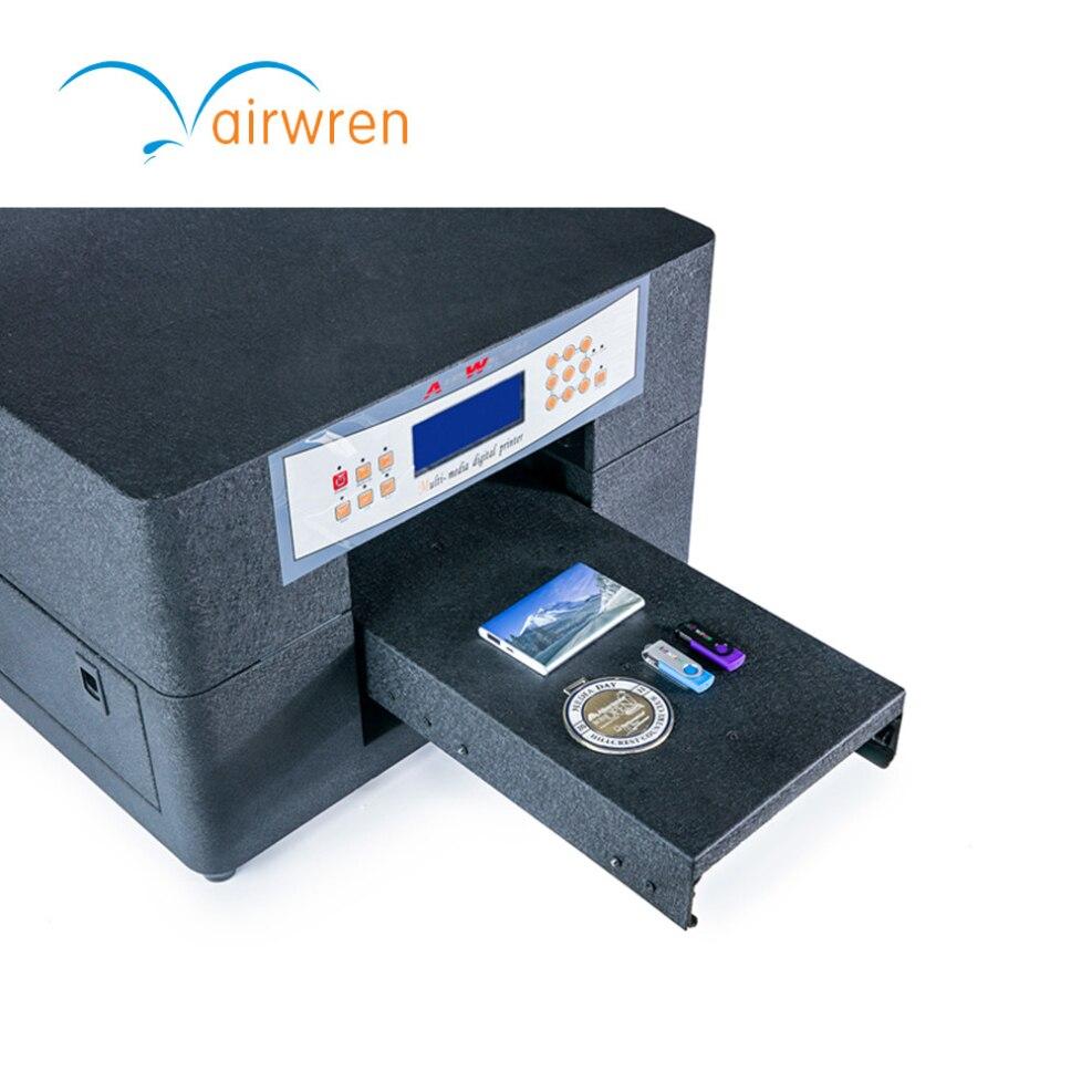 A4 Uv-flachbettdrucker Digitale Inkjet Impressora Mit 6 Farbe Für Telefon Fall, Bleistift, Karte