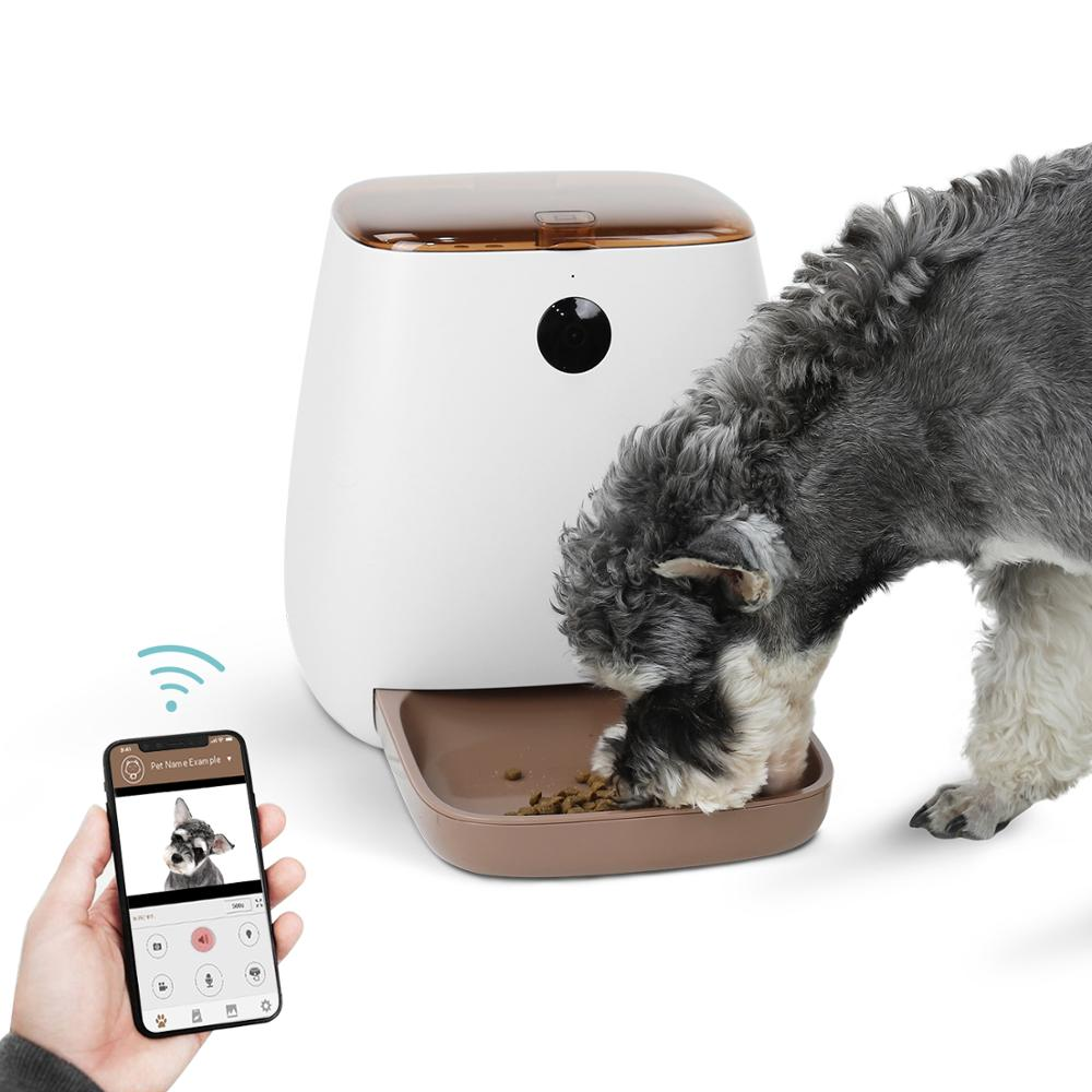 3.3L Automatic Pet Feeder Wifi Phone Voice Control 1080P HD Camera Auto Feeding Accurate Measurement Cat Food Feeder