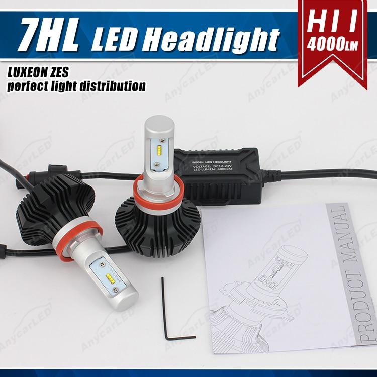 1 set H8 H9 H11 H16 (JP) 50W 8000LM G7 LED-strålkastare - Bilbelysning - Foto 3