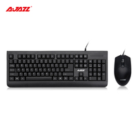 Vorteilhaft Ajazz X1180 Verdrahtete Membran Tastatur und Maus Set QWERT Laser Geschwungene Kappe anti-abrieb 1000 DPI Maus Büro versorgung