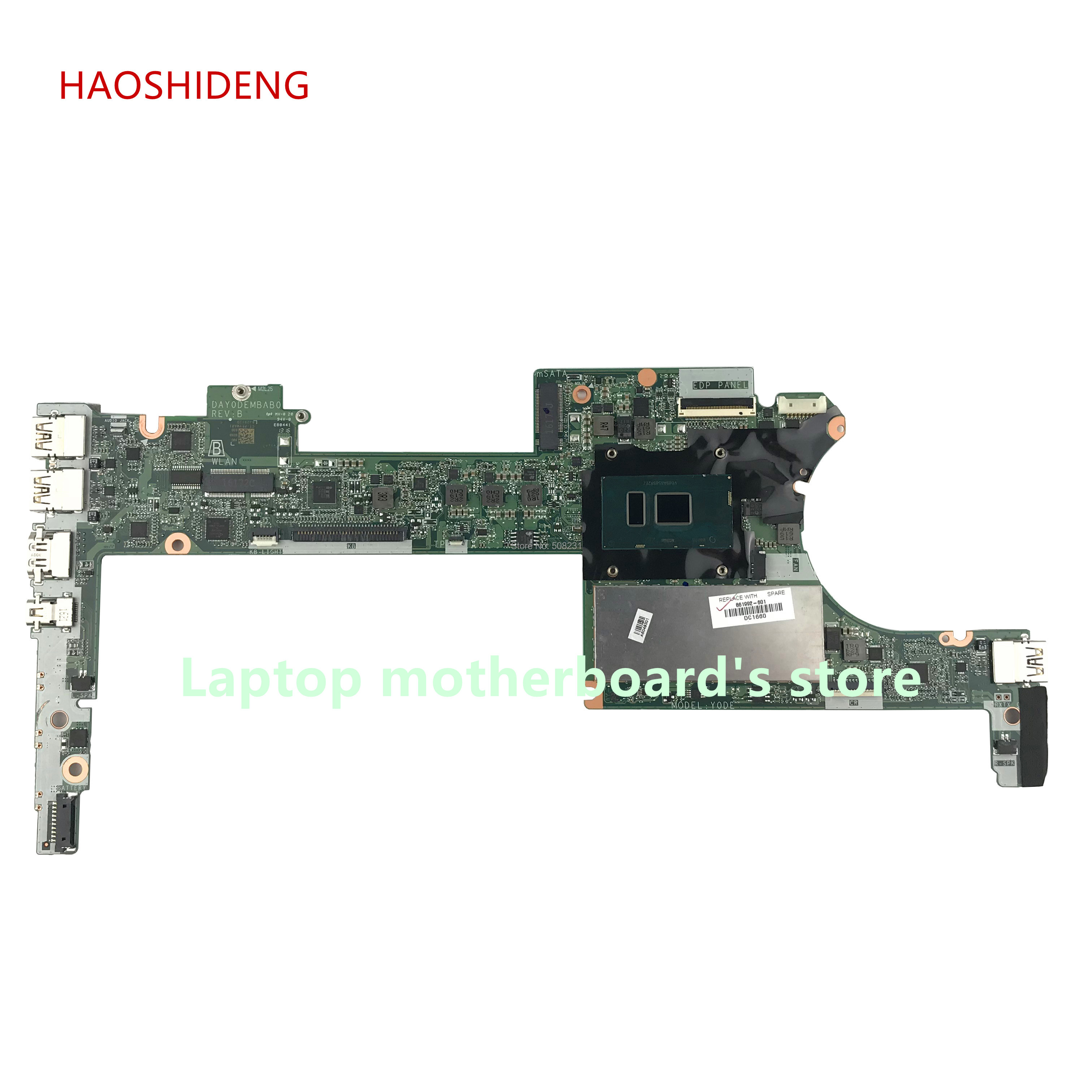 все цены на HAOSHIDENG 861992-601 DAY0DEMBAB0 mainboard for HP Spectre x360 13-4000 13-4172na Laptop Motherboard i7-6500U 8GB fully Tested онлайн