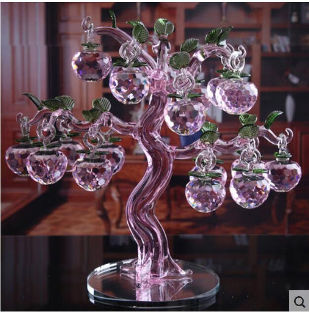 Creative European wedding gift crystal apple tree ornaments living room home decorations fonksiyonlu rende