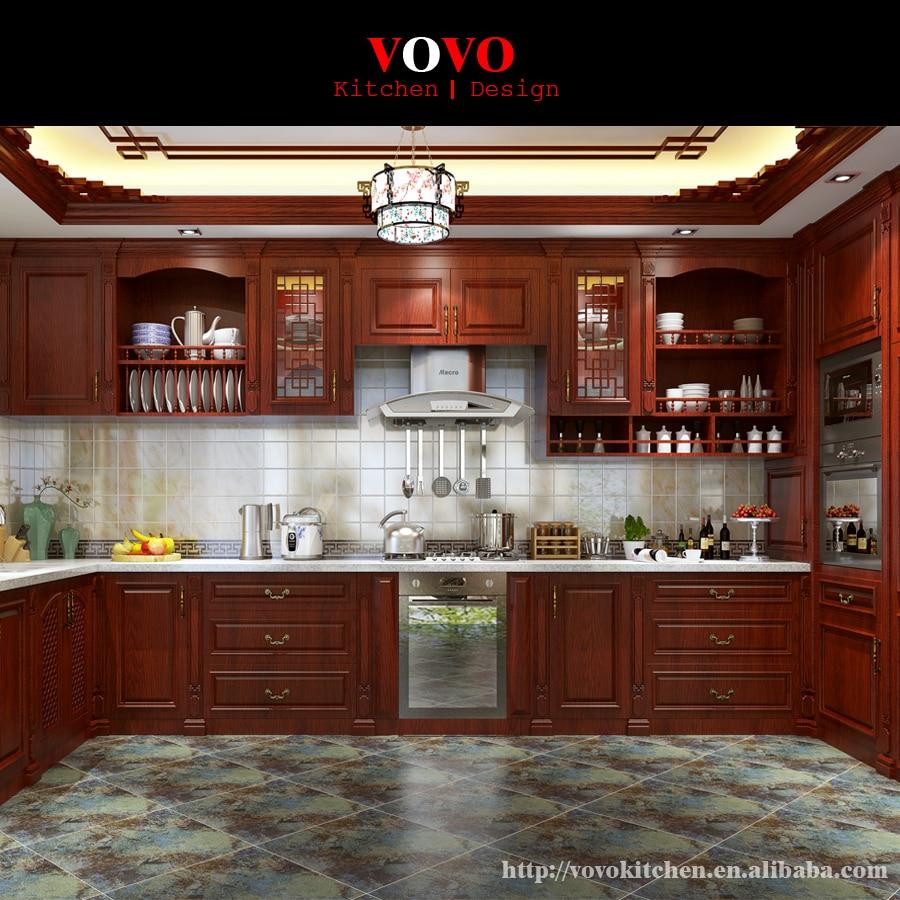 2017 Modern Design Modular Solid Wooden Kitchen Cabinet
